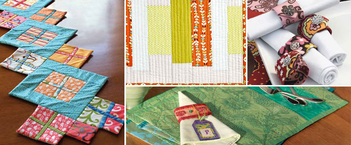 4 Free Patterns for Quilted Table Runners, Napkins & More - The ...