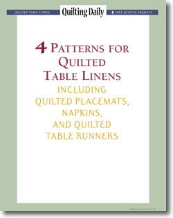 4 Free Patterns for Quilted Table Linens