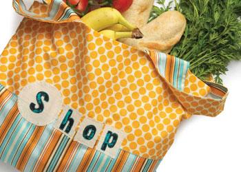 Quilted Tote Bag: Artful Eco Bag by Kelli Nina Perkins