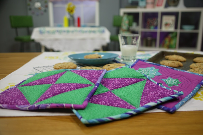 quilting kitchen potholders Quilting in the Kitchen with Jenny Kae Parks