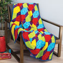 Rainbow Lattice: Generously Sized Throw Quilt Pattern