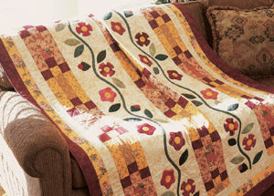 Free and simple quilt pattern: Rambling Vine