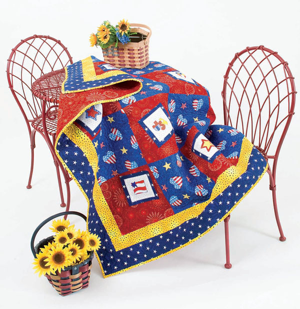 red white and blue free quilt pattern picnic Free Red, White and Blue Quilt Patterns