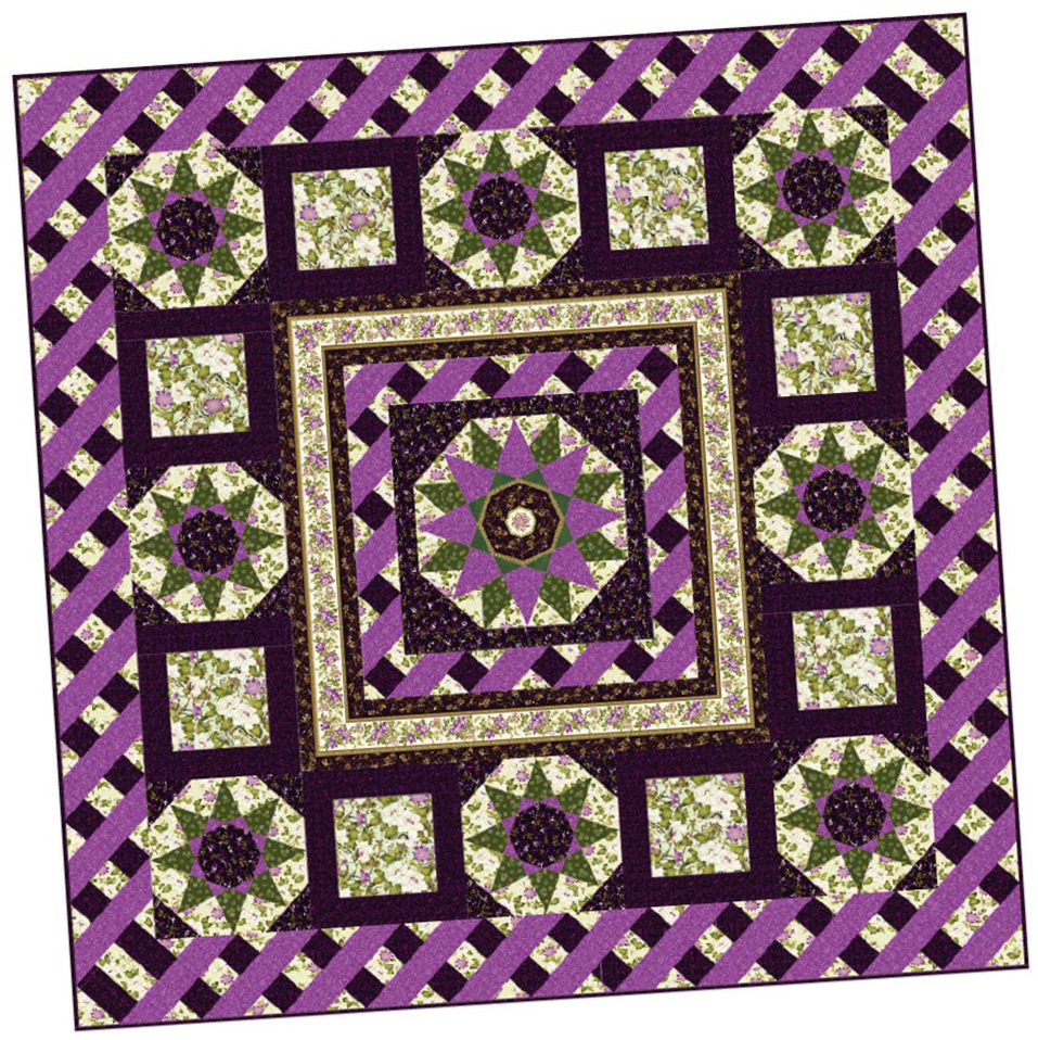 ribbon floral BOM quilt 2 4 Block of the Month Quilts to Make in 2017