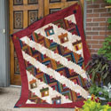 Row Houses: Scrappy Log Cabin Quilt Pattern