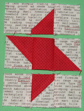 rows sewn QM Bitty Blocks: November's Friendship Stars
