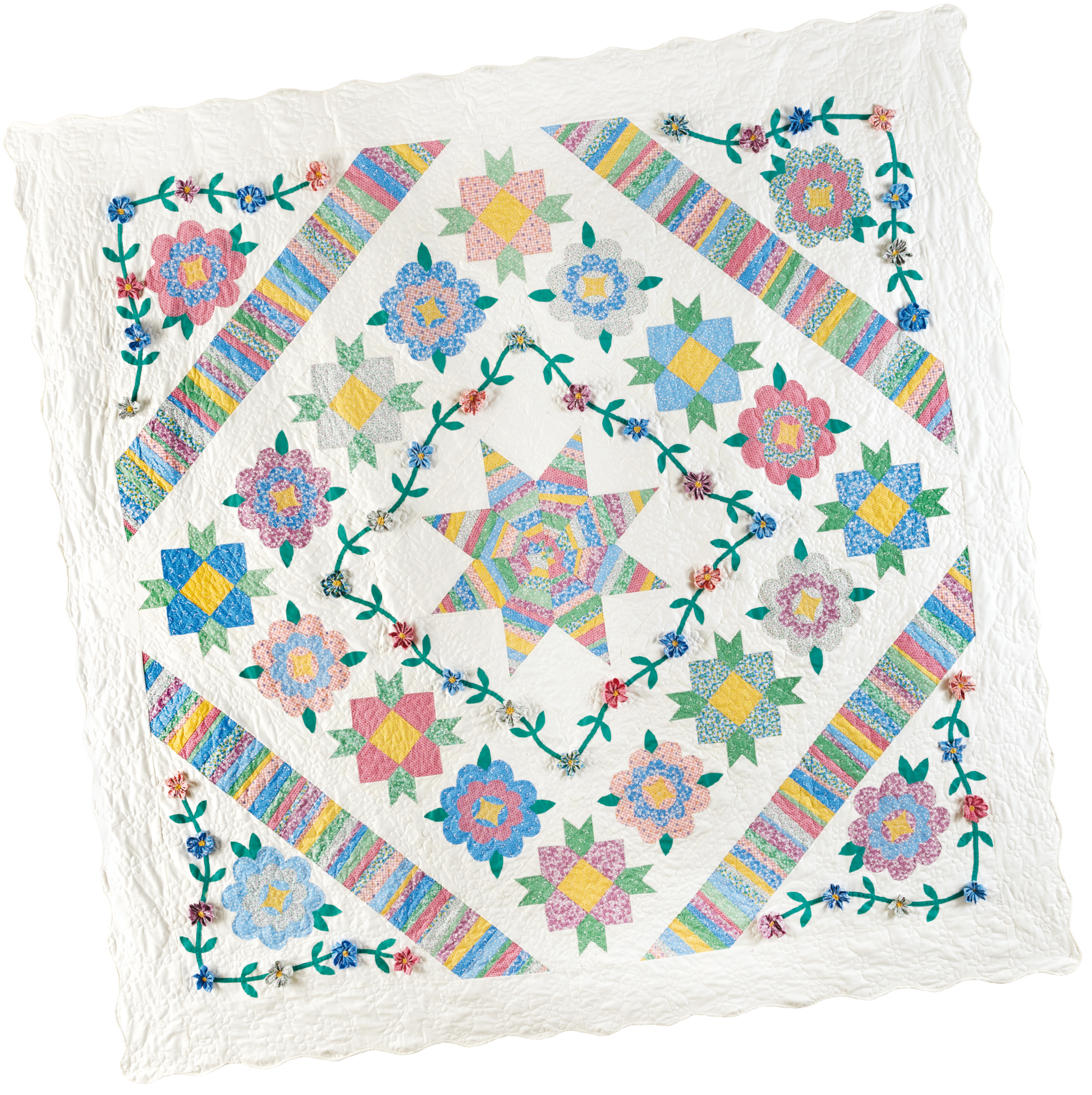 rubys garden bom quilt 4 Block of the Month Quilts to Make in 2017