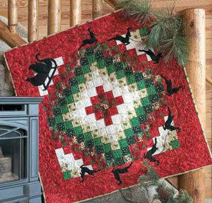 Free Christmas quilt patterns: Santa Claus's trip