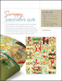 Free Quilt Projects 3: Scrappy Patchwork Quilt
