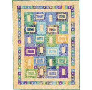 Free and easy batik quilt pattern: sea glass