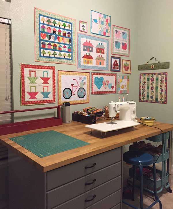 Quilt design wall monday we re all about the blocks for Quilt room design ideas
