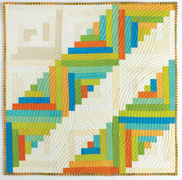 log cabin quilt by Catherine Redford