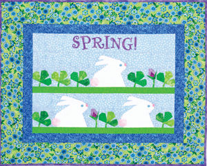 Free paper piecing pattern: Spring Hop pattern