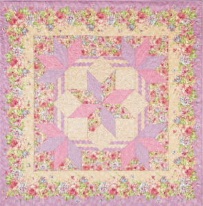 Traditional Pink Star Quilt