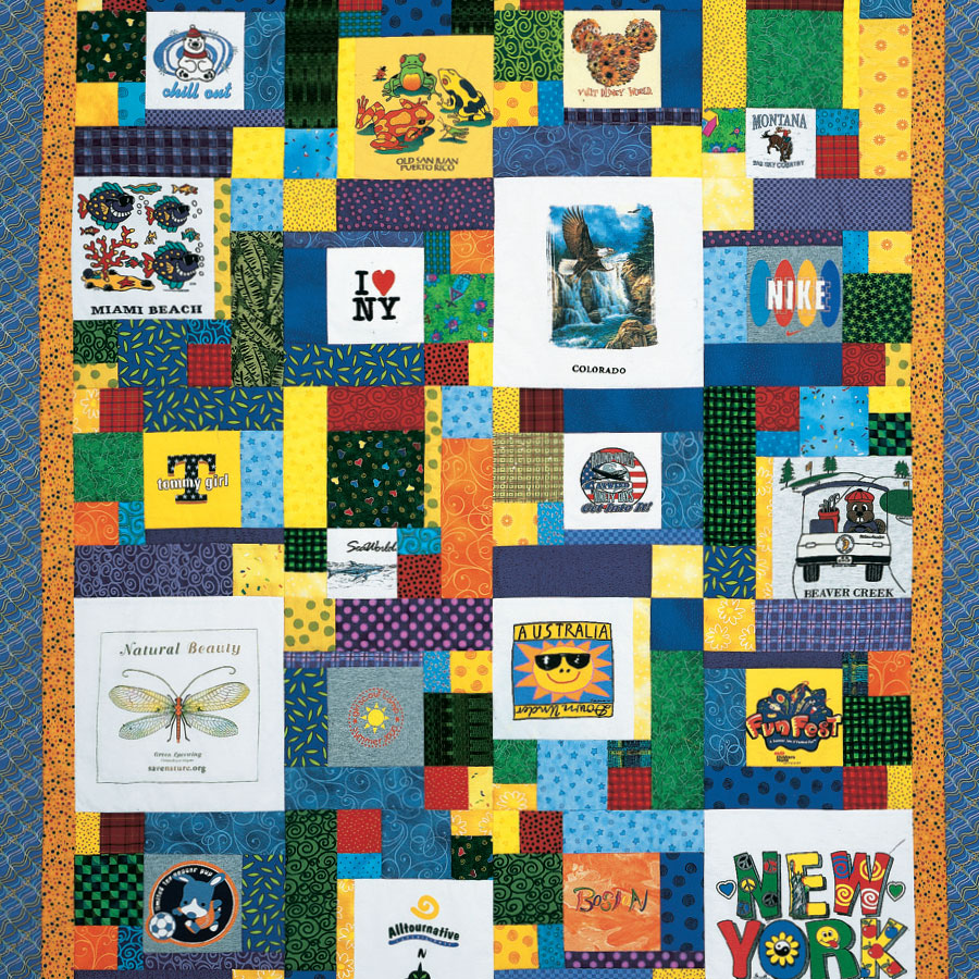 Free T-Shirt Quilt Patterns - How to Make Your Own T-Shirt Quilts ... : t shirt quilt maker - Adamdwight.com