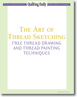 Download your free eBook of thread art techniques on thread painting and drawing methods for quilters!