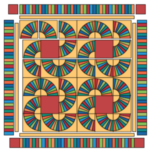 Traditional Tilt A Whirl Quilt