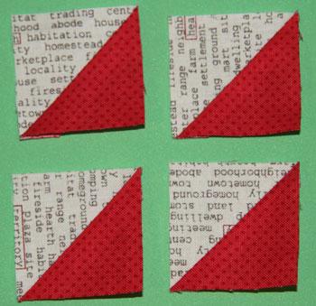 triangle squares QM Bitty Blocks: November's Friendship Stars