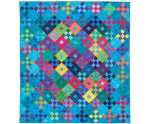 Tropical Fruits batik quilt pattern