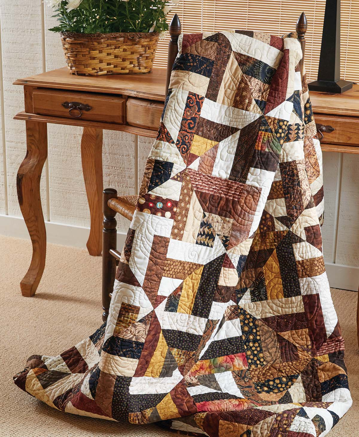 Tumbling Tumbleweeds Quilt Fons Amp Porter The Quilting