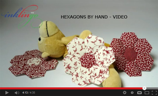 video hexagons by hand Inklingo: Hexagons with Linda Franz