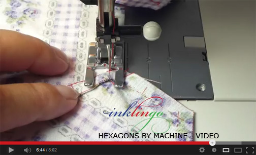 video hexagons by machine Inklingo: Hexagons with Linda Franz