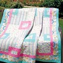 Wildflowers: Easy-to-Piece Throw Quilt Pattern