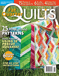 workshop wednesday gently down the stream Workshop Wednesday: Fantastic Fat Quarter Quilts