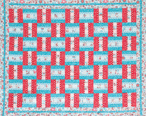 Free and simple quilt pattern: Woven Ribbons