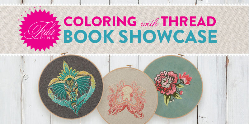 Get inspired to embroider with Tula Pink's Coloring with Thread book