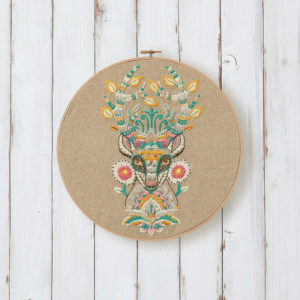 Deer embroidery design by Tula Pink