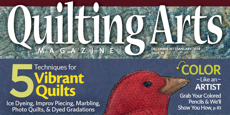 Cover of Quilting Arts Magazine December 2017/January 2018