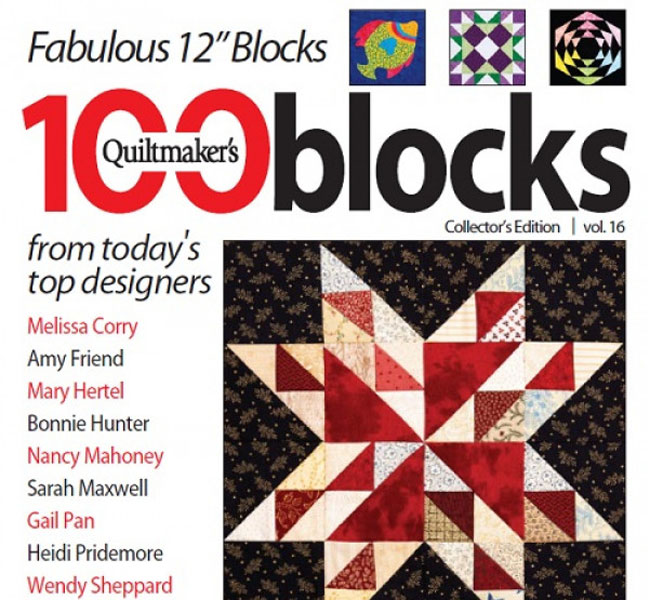 Quiltmaker Magazine - Quiltmaker's 100 Blocks Vol. 16 Print Edition