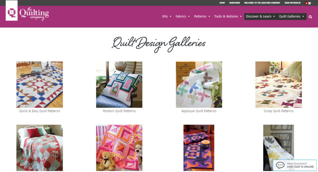 The quilt galleries, home to inspiration by quilt size, theme, season, and more.