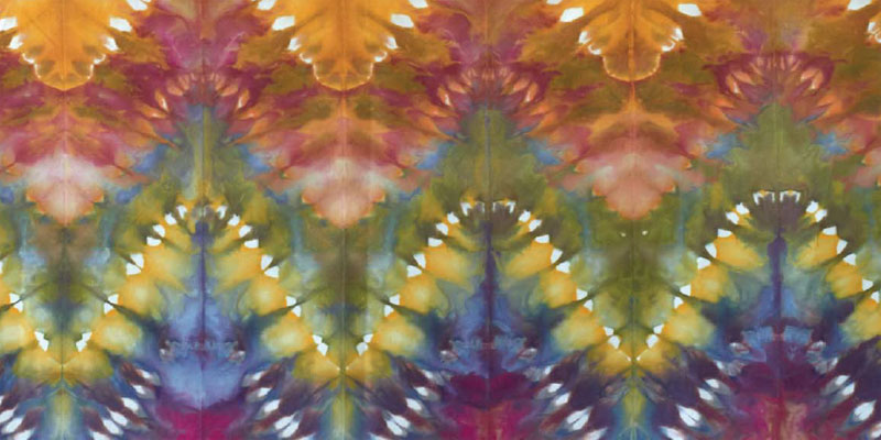 Hand dyed fabric by Cindy Lohbeck