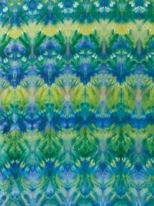 Fabric dyed using Shibori Ice Dyeing method