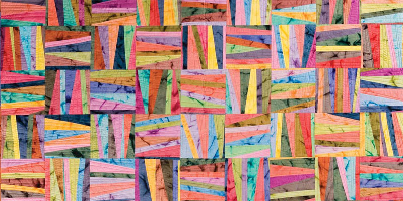 Learn the art of improv quilting with a tutorial from Maria Shell