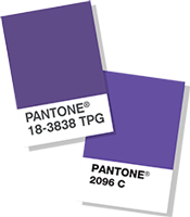 new pantone color Ultra Violet color chips