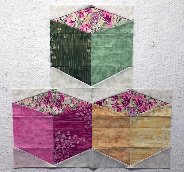 I Love this Quilt Tumbling Blocks - my sample block