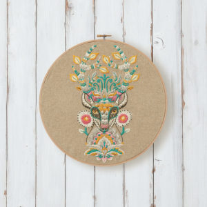 Deer Embroidery designed by Tula Pink