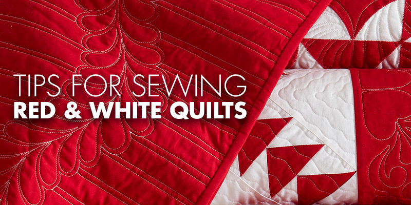 Explore tips for sewing red and white quilts in this blog