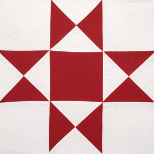 Ohio Star block by Linda Pumphrey can be used to make red and white quilts