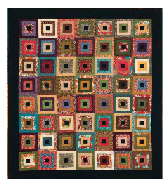 Free Scrap Quilt Pattern #3: Cozy Cabins by Lynn Lister