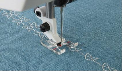 Open Toe Foot (image from HusqvarnaViking.com)