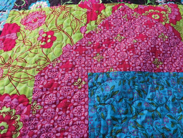 How to Choose a Quilting Design - Busy Quilt Fabric
