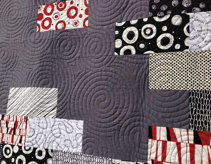 How to Choose a Quilting Design - Playing Opposites