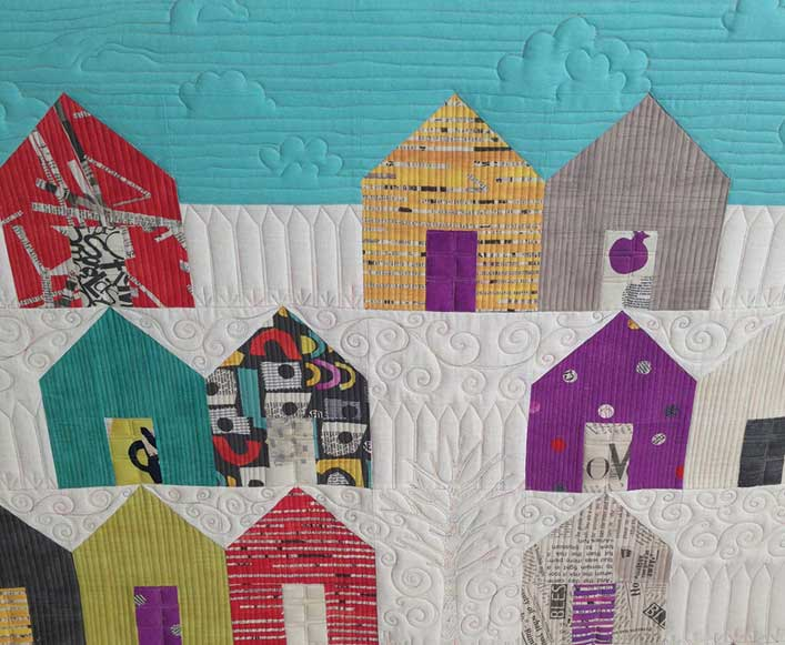 How to Choose a Quilting Design - Taking Inspiration - Houses