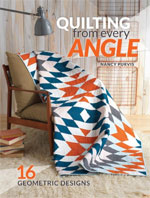 Practice curved piecing in this modern quilt designed by Jean Nolte