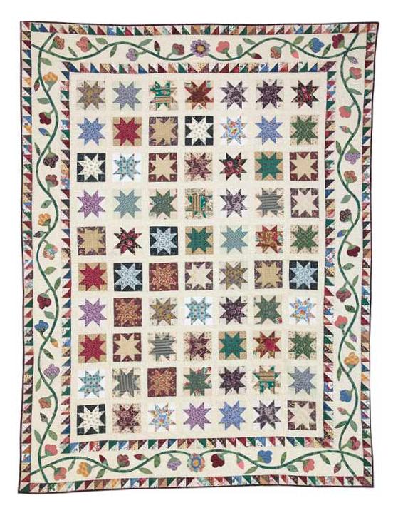 Free Scrap Quilt Pattern #2: Stars in My Garden by Toby Preston