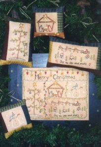 Merry Christmas Stitchery pattern by Bareroots